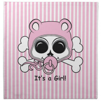 Cute Baby Girl Skull Napkin