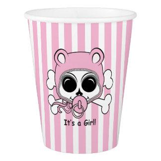 Cute Baby Girl Skull Paper Cup