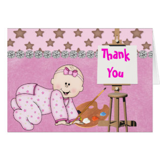 CUTE Baby GIRL THANK YOU Card