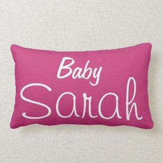 Cute Baby Girl's Name and Birth Date Reversible Lumbar Pillow