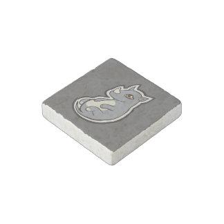 Cute Baby Gray Rhino Big Eyes Ink Drawing Design Stone Magnets