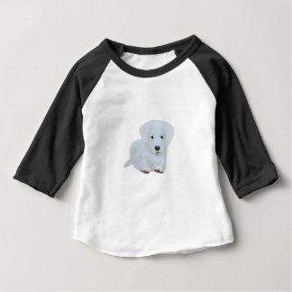 Cute baby happy puppy white dog baby T-Shirt