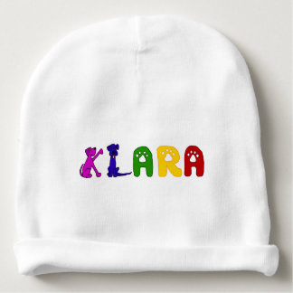 Cute Baby Hat with Klara Name Baby Beanie
