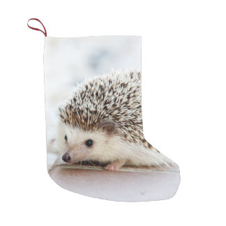 Cute Baby Hedgehog Animal Small Christmas Stocking
