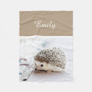 Cute Baby Hedgehog Fleece Blanket