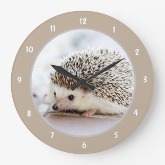 Cute Baby Hedgehog Large Clock