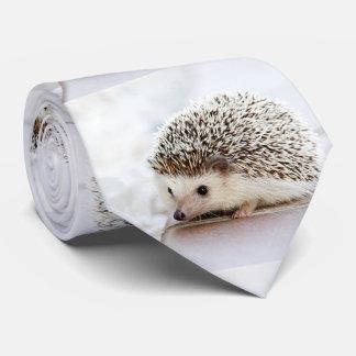 Cute Baby Hedgehog Photo Template Tie