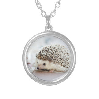 Cute Baby Hedgehog Silver Plated Necklace