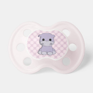 Cute baby hippo cartoon baby pacifier