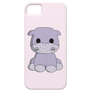 Cute baby hippo cartoon kids iPhone 5 cases