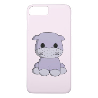 Cute baby hippo cartoon kids iPhone 7 plus case