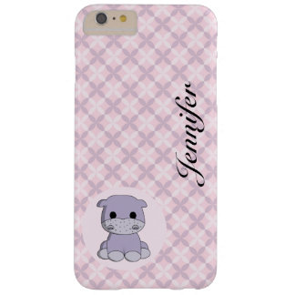 Cute baby hippo cartoon name kids iphone case