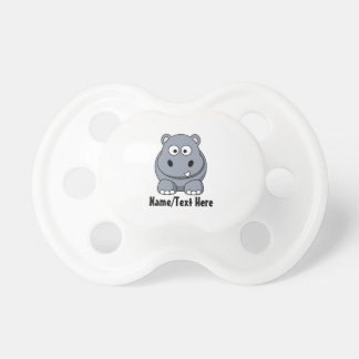 Cute Baby Hippo Customize Pacifiers