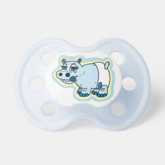 Cute baby hippo dummy pacifier