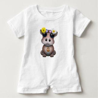 Cute Baby Hippo Hippie Baby Romper