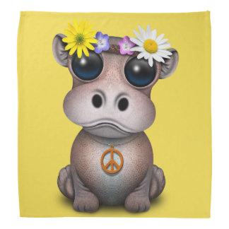 Cute Baby Hippo Hippie Bandana
