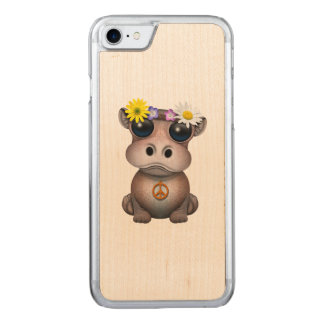 Cute Baby Hippo Hippie Carved iPhone 8/7 Case