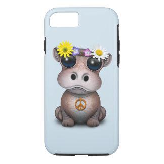 Cute Baby Hippo Hippie Case-Mate iPhone Case