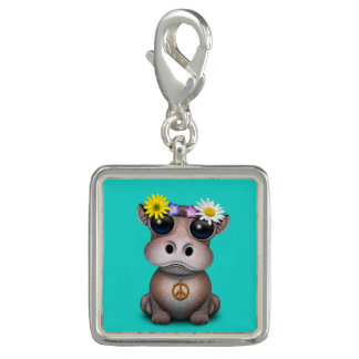 Cute Baby Hippo Hippie Charm