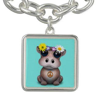 Cute Baby Hippo Hippie Charm Bracelets