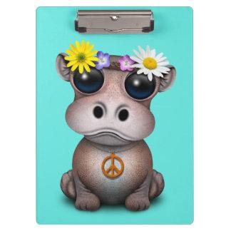 Cute Baby Hippo Hippie Clipboard