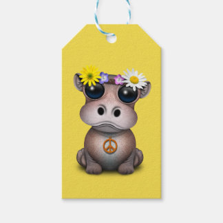 Cute Baby Hippo Hippie Gift Tags