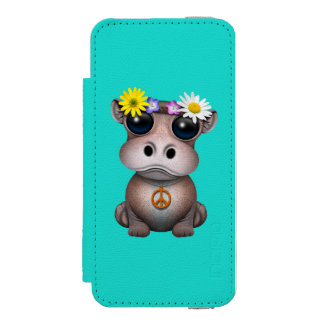 Cute Baby Hippo Hippie Incipio Watson™ iPhone 5 Wallet Case