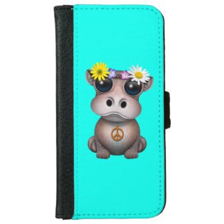 Cute Baby Hippo Hippie iPhone 6 Wallet Case