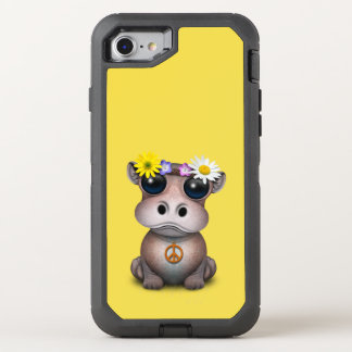 Cute Baby Hippo Hippie OtterBox Defender iPhone 8/7 Case