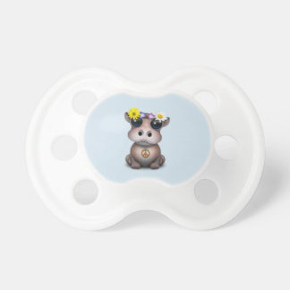 Cute Baby Hippo Hippie Pacifier