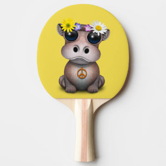 Cute Baby Hippo Hippie Ping Pong Paddle