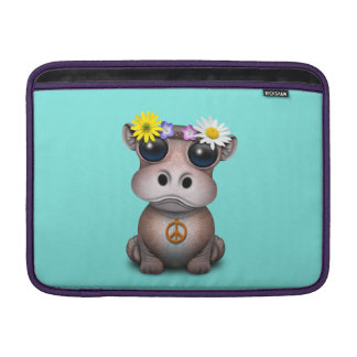 Cute Baby Hippo Hippie Sleeve For MacBook Air