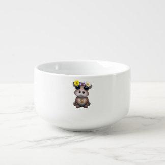 Cute Baby Hippo Hippie Soup Mug