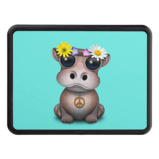 Cute Baby Hippo Hippie Trailer Hitch Cover