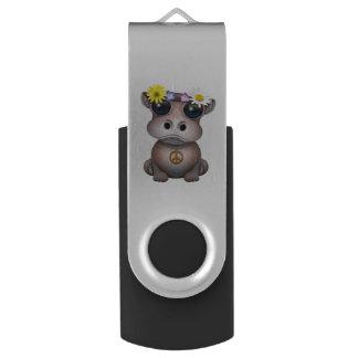Cute Baby Hippo Hippie USB Flash Drive