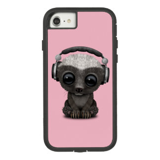 Cute Baby Honey Badger Dj Wearing Headphones Case-Mate Tough Extreme iPhone 8/7 Case
