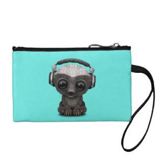 Cute Baby Honey Badger Dj Wearing Headphones Coin Purse