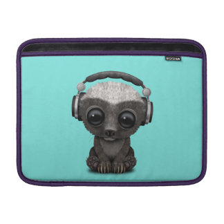 Cute Baby Honey Badger Dj Wearing Headphones Sleeve For MacBook Air