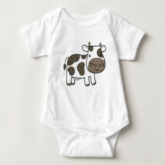 Cute  Baby Jersey Bodysuit with cow