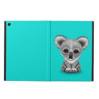 Cute Baby Koala Bear Cub on Blue iPad Air Covers