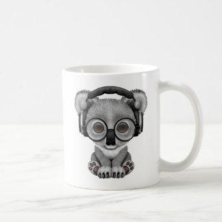 Cute Baby Koala Bear Dj Wearing Headphones Coffee Mug
