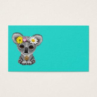 Cute Baby Koala Hippie Business Card