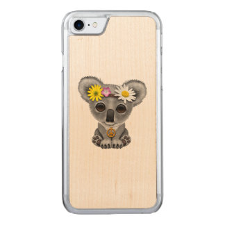 Cute Baby Koala Hippie Carved iPhone 8/7 Case
