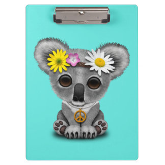 Cute Baby Koala Hippie Clipboard