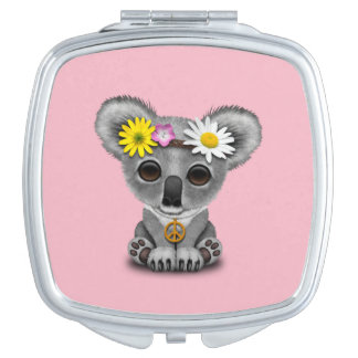 Cute Baby Koala Hippie Compact Mirrors