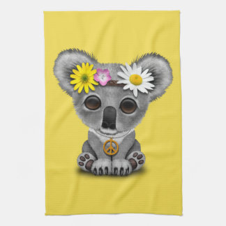 Cute Baby Koala Hippie Kitchen Towel