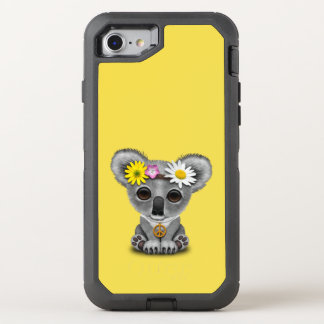Cute Baby Koala Hippie OtterBox Defender iPhone 8/7 Case