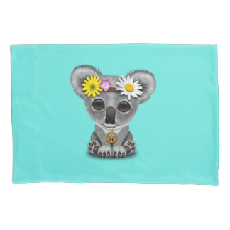 Cute Baby Koala Hippie Pillowcase