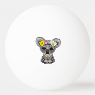 Cute Baby Koala Hippie Ping Pong Ball