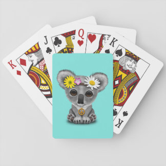 Cute Baby Koala Hippie Playing Cards